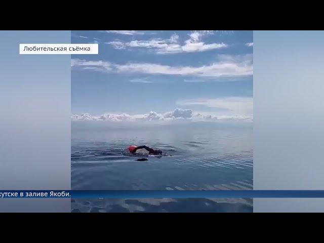Восемь пловцов со всего мира переплыли Байкал