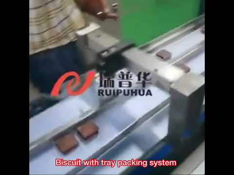 Biscuit with tray packing machine
