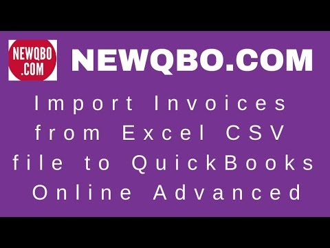 Import Invoices from Excel CSV file to QuickBooks Online