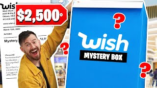 I Gave A Wish Employee $2,500 To Make Me A Mystery Box!! *Wish Unboxing*