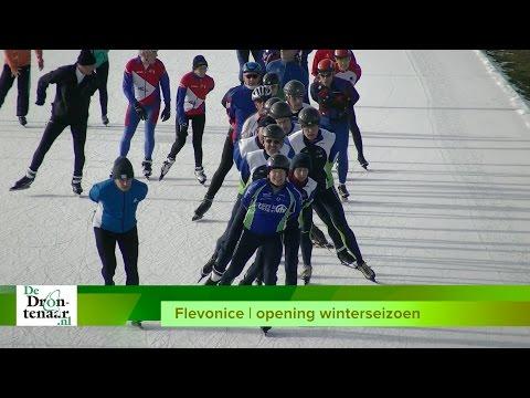 VIDEO | Flevonice viert zonovergoten openingsdag van het winterseizoen