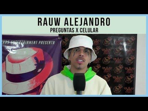 Rauw Alejandro video Preguntas x Celular - Septiembre 2019