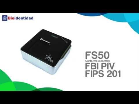 Bioidentidad RENIEC FS50 FS52: Lector de huellas, notaría, salud, patrullero inteligente, PNP, AFIS