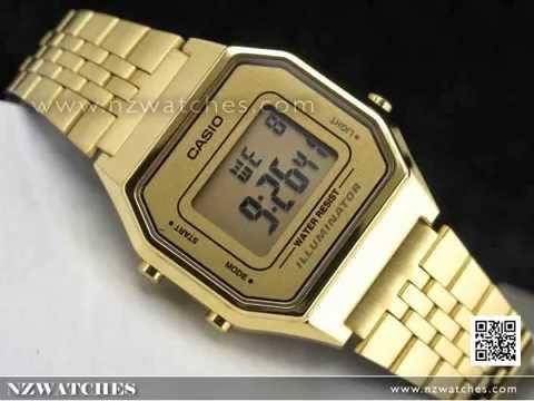 Casio Retro Gold Tone Digital Ladies Watches LA680WGA-9DF 8d230bcae3