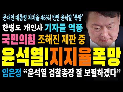 윤석열 총장 '지지율' 폭망!!