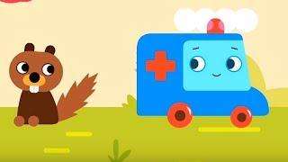 Мультфильм про машинки -  Грузовичок Пик - Больной зуб + Весёлый огонёк - развивающий мультфильм