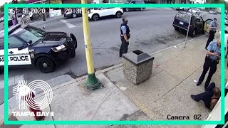 New surveillance video captures part of George Floyd's arrest before he died