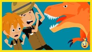 GIANT T-REX Attack Park Ranger Aaron, LB Animated Cartoon Jurassic Adventure Dinosaur Movies w/ Hulk