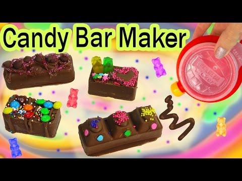 CHOCOLATE CANDY BAR Maker Kit Set REAL FOOD Sprinkles Cookie Dough Gummy Bears Baker Moose Toys