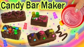 CHOCOLATE CANDY BAR Maker Kit Set REAL FOOD Sprinkles Cookie Dough Gummy Bears Baker Moose Toys