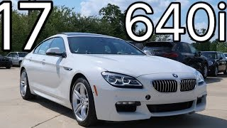 2017 BMW 6 Series 640i Gran Coupe REVIEW, Start Up, Exhaust