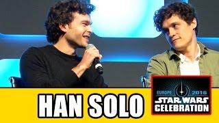 HAN SOLO MOVIE Star Wars Celebration Panel - Alden Ehrenreich