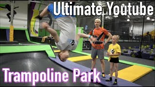 Ninja training at the trampoline park (With Stephen Sharer & Ninja Kidz tv!!!)