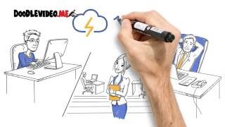 Лучший рекламный дудл ролик для бизнеса. Видео для Сервиса 1cloud