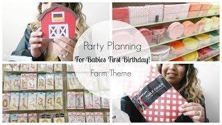Party Planning For Babies First Birthday    Farm Theme   Karina Herrera