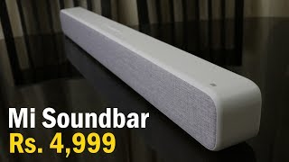Mi Soundbar review now in India for Just Rs. 4,999, Enhance your TV's Audio experience