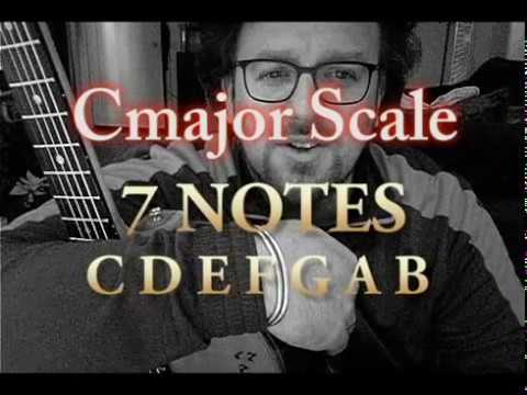 This is the 1st part of an 8 part chord and scale lesson. This video focuses on the Cmaj scale in the Open Position.