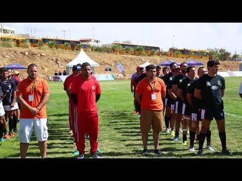 السلام الوطني الأردني فى افتتاح البطولة العربية للرجبي