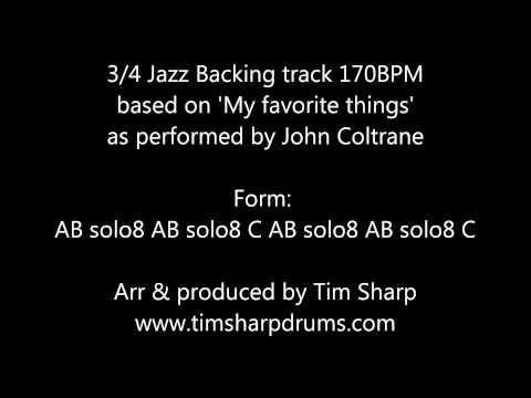 drumless loop: jazz waltz 3/4 _ 121 bpm - DrumlessLoopChannel