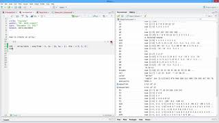 How to Create an Array in R. [HD]