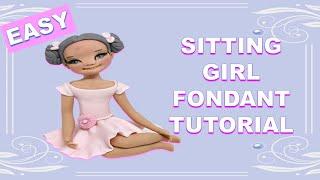 SITTING GIRL CAKE TOPPER