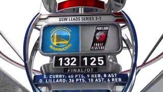 Golden State Warriors vs Portland Trail Blazers - May 9, 2016