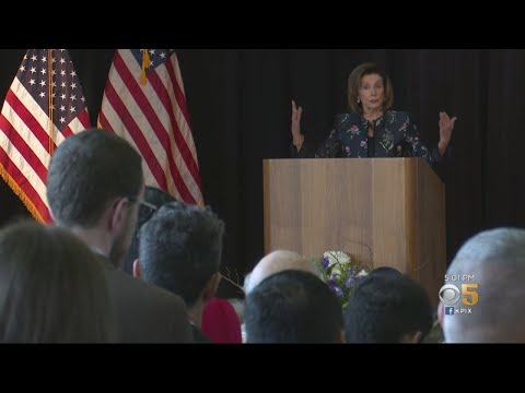 Speaker Pelosi Discusses Senate Impeachment Trial In San Francisco's Presidio