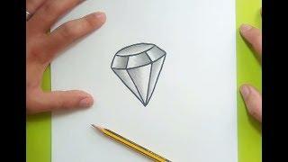 Como Dibujar Un Diamante Paso A Paso 2 | How To Draw A Diamond 2