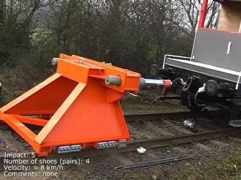 Buffer stop crash testing footage from 2004