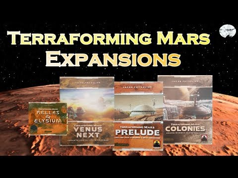 Terraforming Mars: Expansions Talkthrough (Hellas&Elysium, Venus Next, Prelude, Colonies)