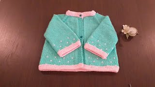 How to knit Baby Cardigan | Top To Bottom Sweater | Part 1 With Written Instructions