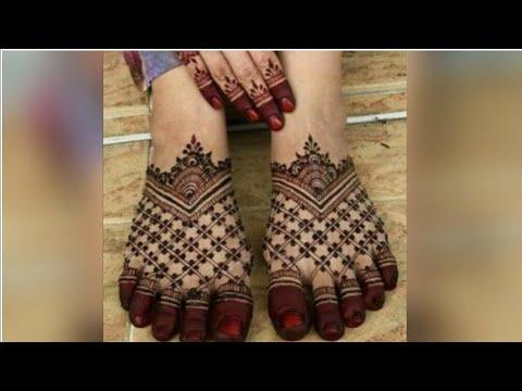 beautiful feet leg mehndi design for eid by samiya waseem