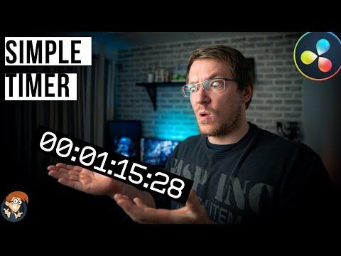 Add a simple TIMER in Davinci Resolve - 5 Minute Friday #35