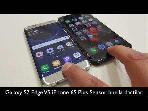 Galaxy S7 Edge VS iPhone 6SPlus - Sensor de Huella Dactilar Rapidez
