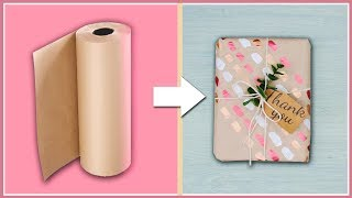 DIY Gift Wrapping Ideas For Anyone Who Doesnt Want To Be Basic 💁 / Easy Brown Paper Gift Wrapping