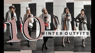 WINTER OUTFIT IDEAS | TEN EASY WINTER LOOKS (CASUAL & DRESSY) | MON MODE
