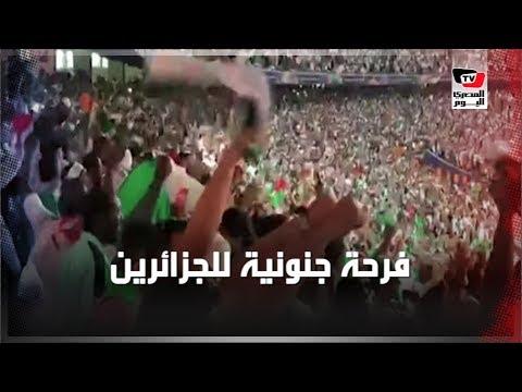 فرحة جنونية لجماهير الجزائر لحظة إطلاق صافرة نهاية المباراة والتتويج بـ«امم أفريقيا»