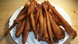 Простой рецепт мясных чипсов из курицы (по мотивам биф джерки)