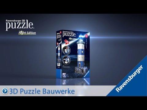 Ravensburger 3D Puzzle: Leuchtturm bei Nacht