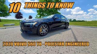 10 Things to Know - 2020 Volvo S60 T8 Polestar Engineered