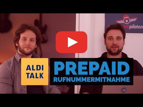 Prepaid Rufnummernmitnahme - Wechsel von ALDI Talk