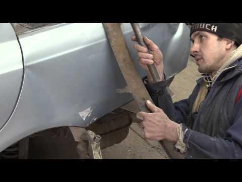 Кузовной ремонт. Покраска авто. Могилёв. Рихтовка крыла . 1 часть.