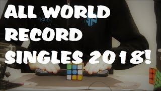 All NEW WR Singles in Cubing! (OCTOBER 2018)