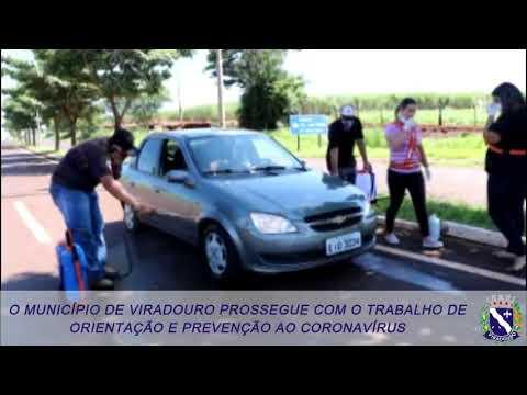 O MUNICÍPIO DE VIRADOURO PROSSEGUE COM O TRABALHO DE ORIENTAÇÃO E PREVENÇÃO AO CORONAVÍRUS
