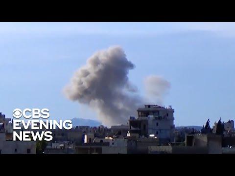 Syrian civilians seek refuge from bombings inside Idlib