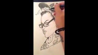 Drawing Time Lapse: Gangsta Girl