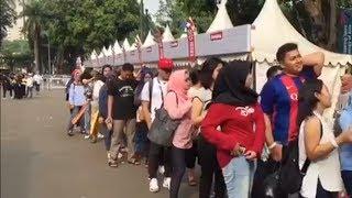 Hari Penutupan Asian Para Games 2018, Antrean Panjang Terjadi di Mega Store