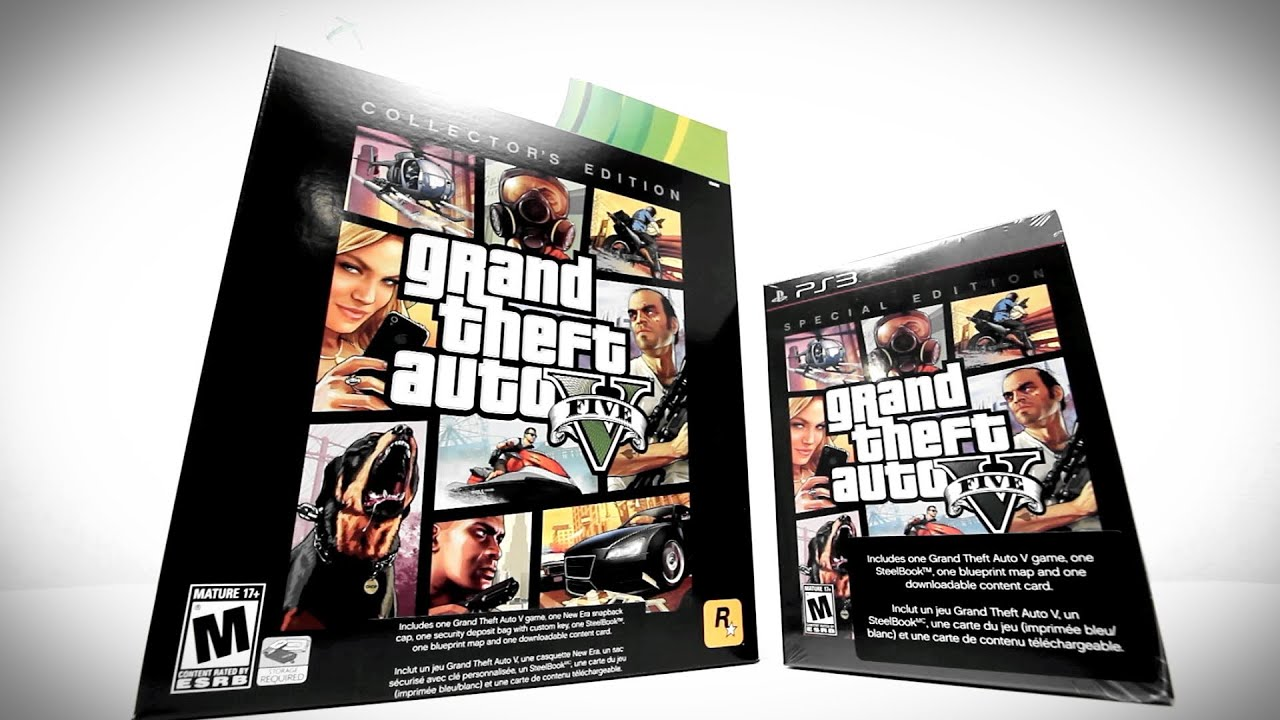 GTA V Collector's Edition Unboxing + Special Edition Unboxing! thumbnail