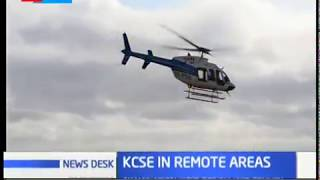 Government choppers airlifting KCSE exam papers to remote areas in Kenya
