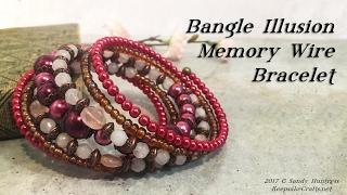 Bangle Illusion Memory Wire Bracelet-Jewelry Tutorial